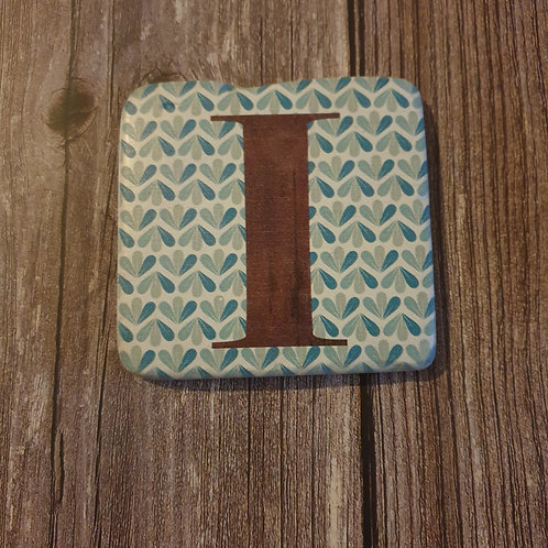 Alphabet Letter Coaster 'I'
