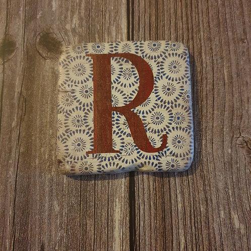 Alphabet Letter Coaster 'R'
