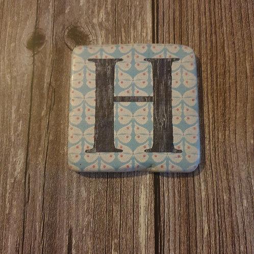 Alphabet Letter Coaster 'H'