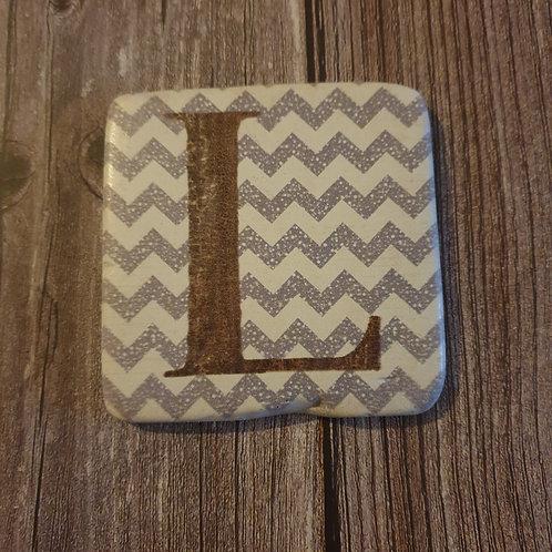 Alphabet Letter Coaster 'L'