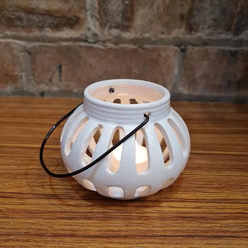 White Ceramic Tealight Holder