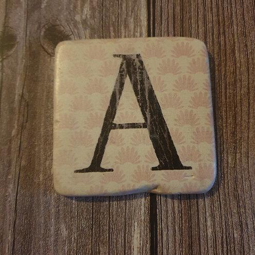 Alphabet Letter Coaster 'A'