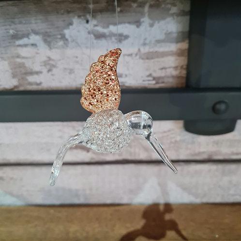 Gold Wing Glass Hummingbird