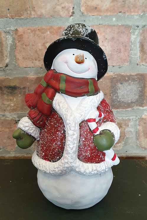 Snowman ornament with Coat and Scarf