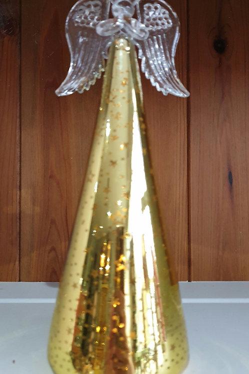Gold Light up Glass Angel