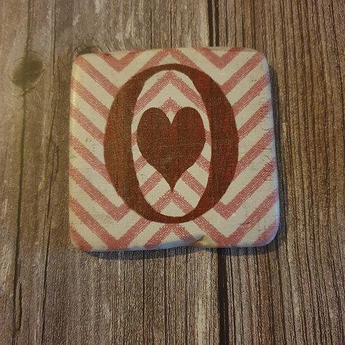 Alphabet Letter Coaster 'O'