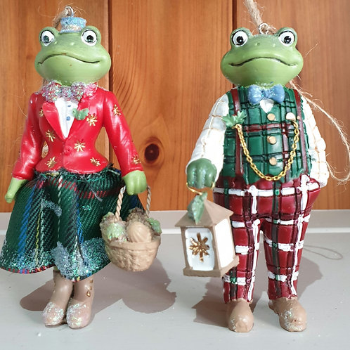 Mr and Mrs Frog Ornament