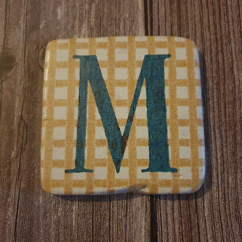 Alphabet Letter Coaster 'M'