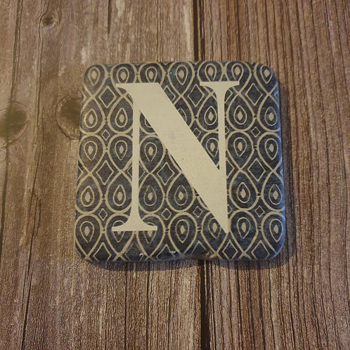 Alphabet Letter Coaster 'N'