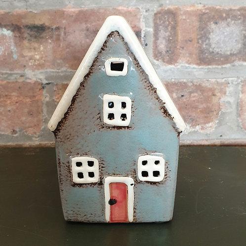 Blue House Money Box