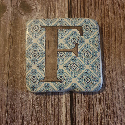 Alphabet Letter Coaster 'F'