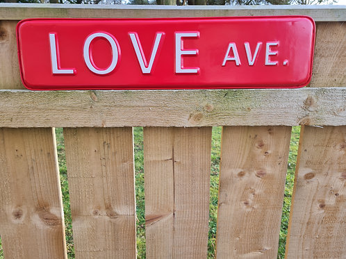 LOVE AVE Sign