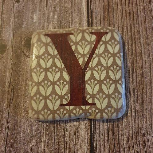 Alphabet Letter Coaster 'Y'