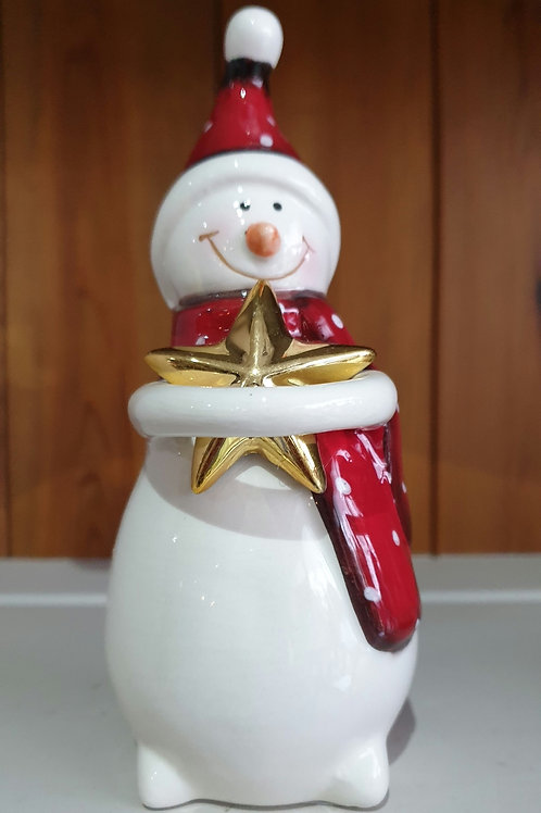 Snowman with Gold Star