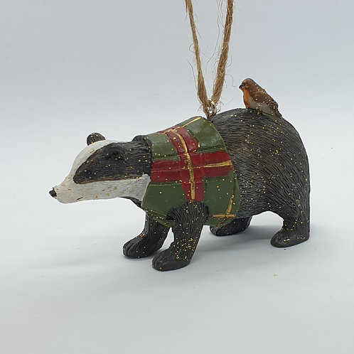 Badger with Tartan Coat