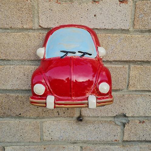 Ceramic Red Car Planter