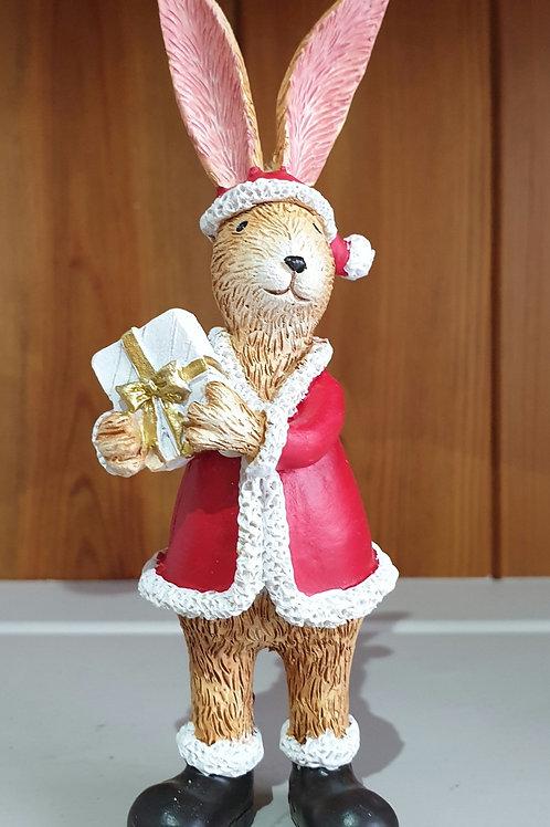 Santa Rabbit Ornament