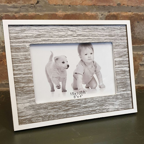 White Wash Wooden Photo Frame