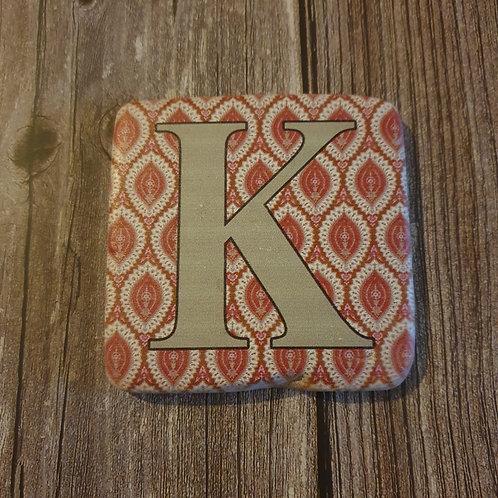 Alphabet Letter Coaster 'K'