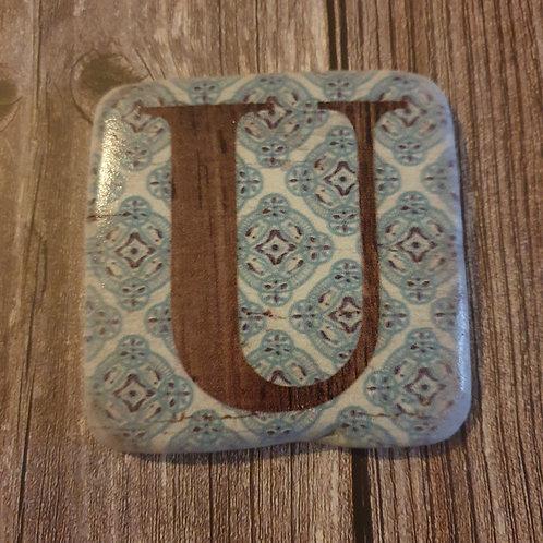 Alphabet Letter Coaster 'U'