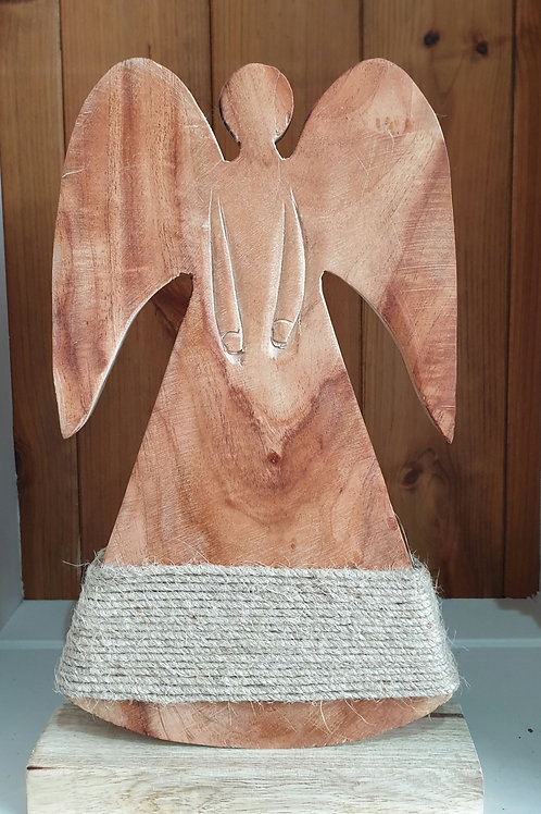 Wooden Angel with Rope detail