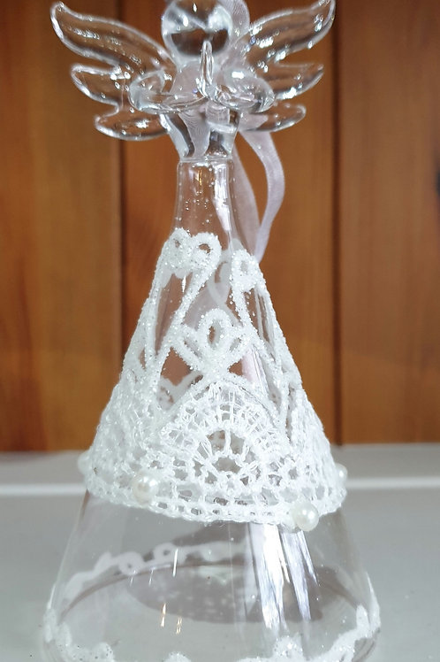 Glass Angel with Lace