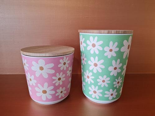 Daisy Bamboo Storage Pots