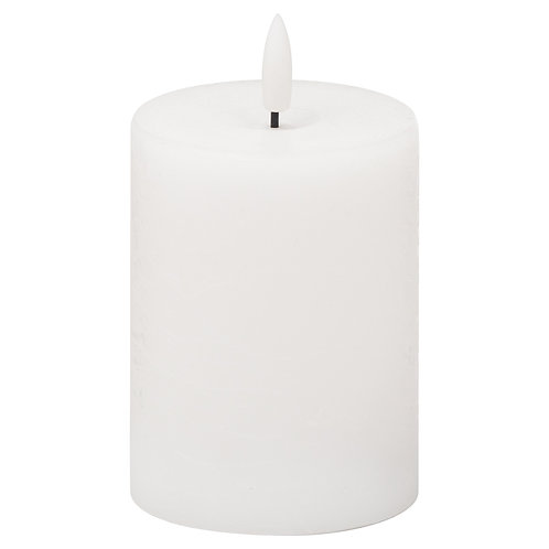 Luxe Collection Natural Glow LED White Candle