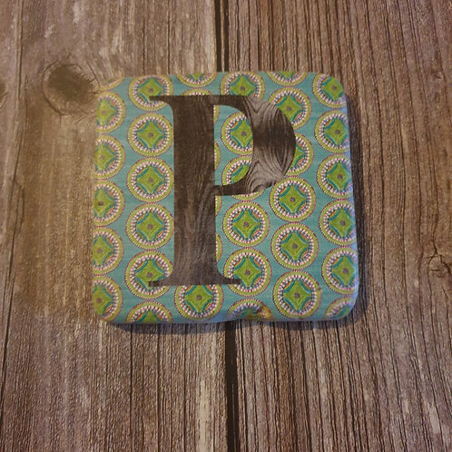 Alphabet Letter Coaster 'P'