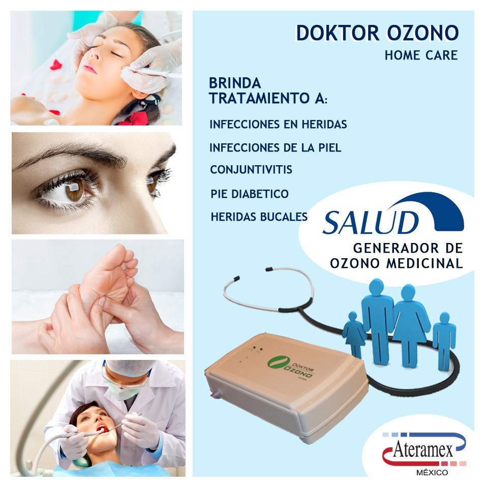 Generador de ozono para tratamiento de halitosis, pie diabético, infecciones entre otros.