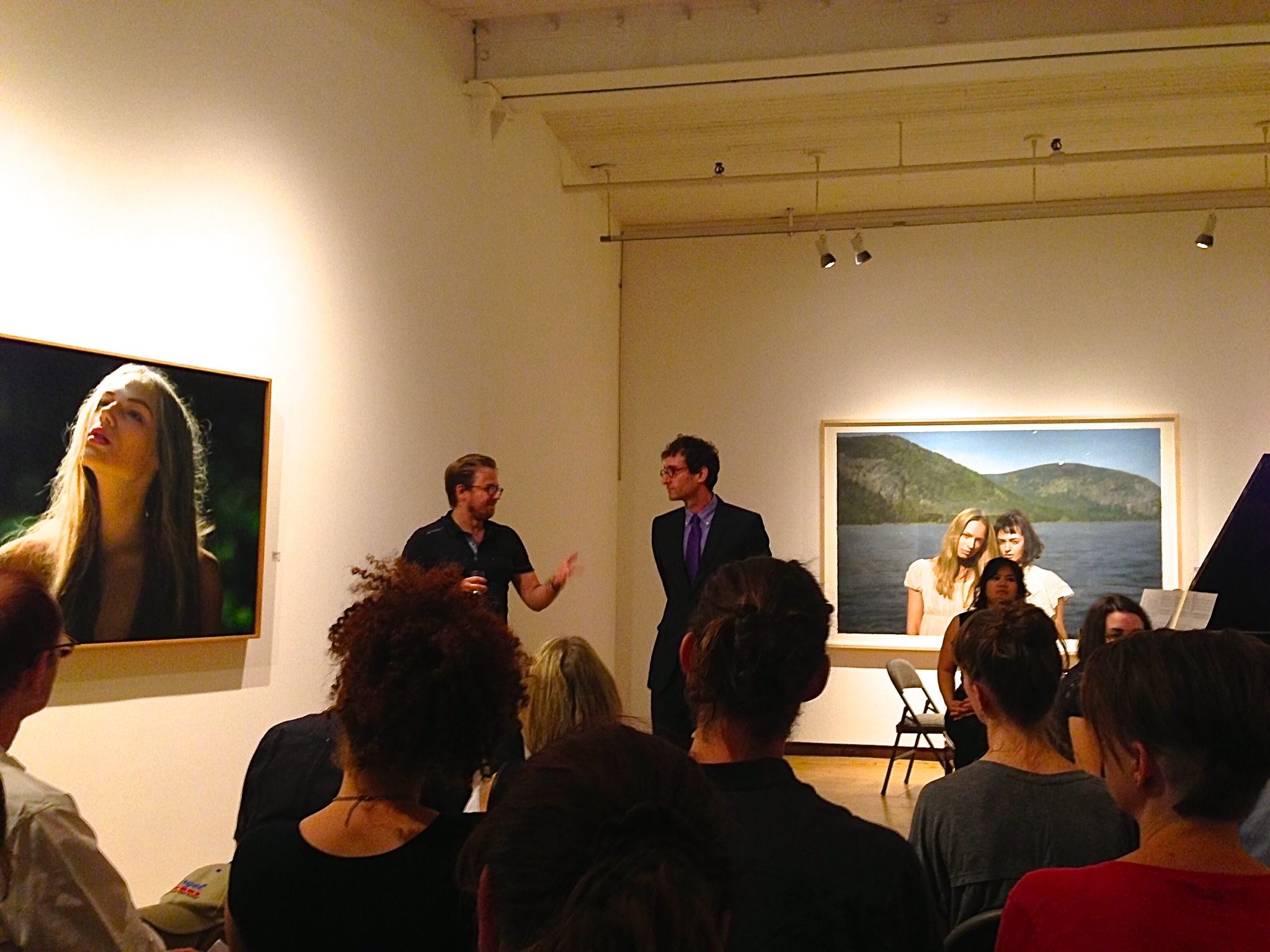 Marc introducing the piece