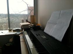 Vesper Trains - manuscript score on piano