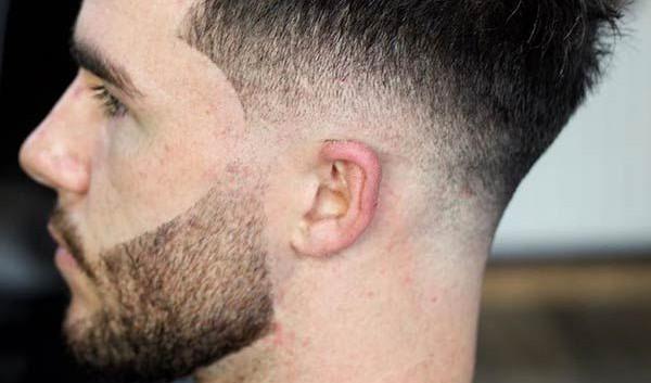 Mens fade hair cut