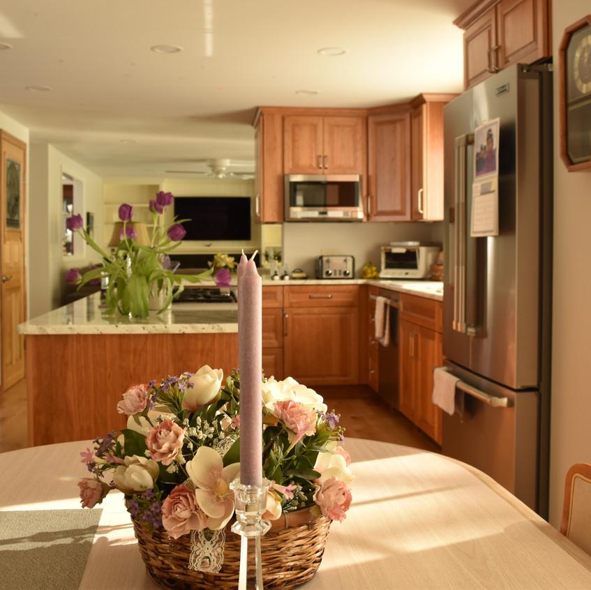 Main Kitchen from Breakfast Area