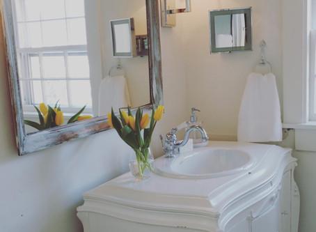 Furniture Piece as Bathroom Vanity