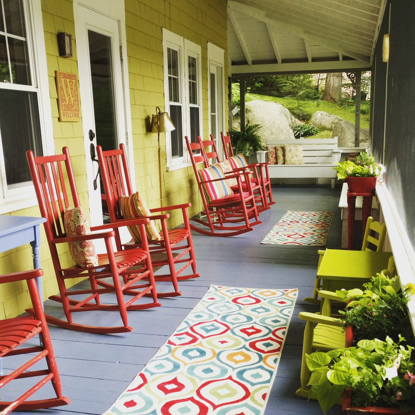Colorful Porch with Rockers