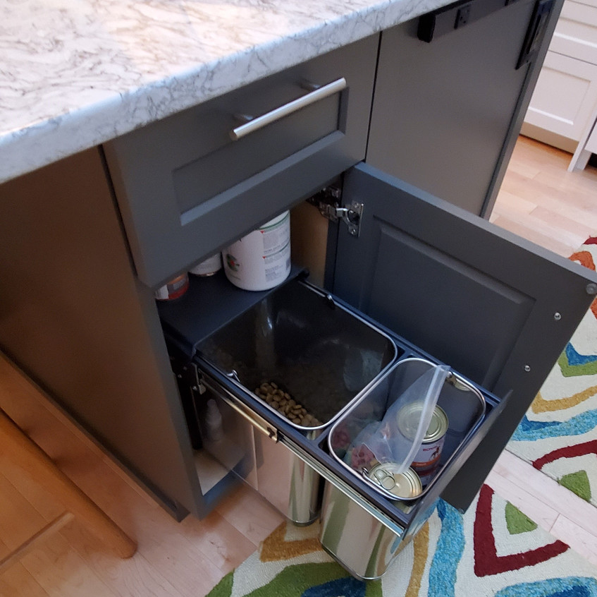 Dog Food Storage Pullout