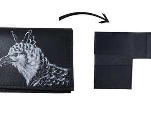 Cartera de piel para hombre pintada a mano | Leather wallet for men painted by hand