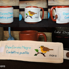 Camisa para taza bordada / taza | Embroidered cup's ornament / Cup