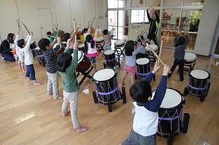 太鼓教室開催中.