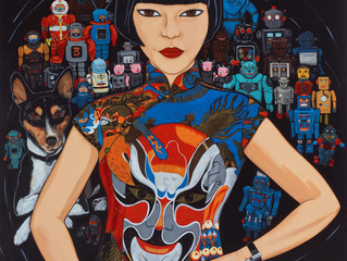 Archibald Prize 2016. Finalists. Claudia, Spartacus and the robots
