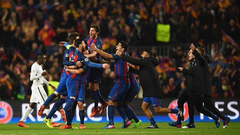 Barcelona beat PSG 6-1 to stay in Champions League