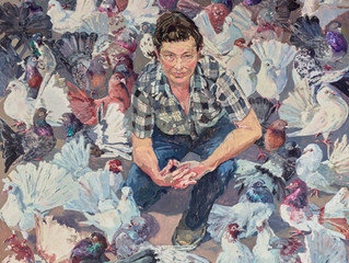 Archibald Prize 2016. Finalists. Lucy and fans by Lucy Culliton