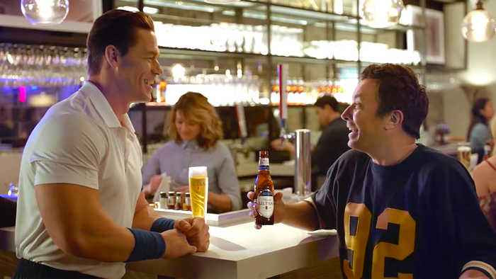 SuperBowl ad from low-carb beer brand, Michelob Ultra. starring Tonight Show host, Jimmy Fallon