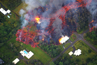 Explosion at Hawaii Volcano Spews Ash as Lava Flows into Sea