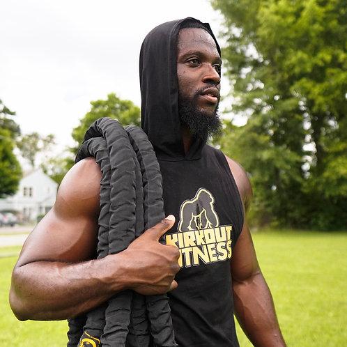 Men's Kirkout Fitness Workout Sleeveless Hoodie