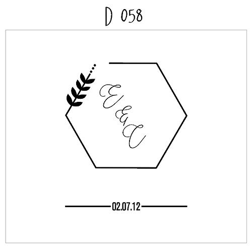 D 058 - Wedding Guest Signature Board