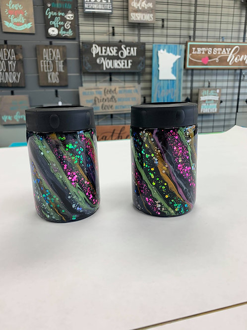 Black Glitter Swirl Design