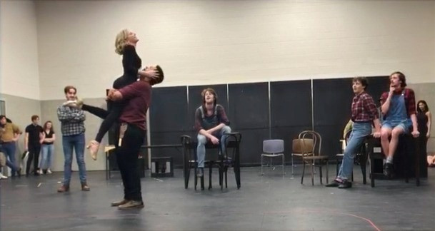 """Crazy For You"" at Ball State - rehearsal photos due to COVID-19 shutdown, 2020"