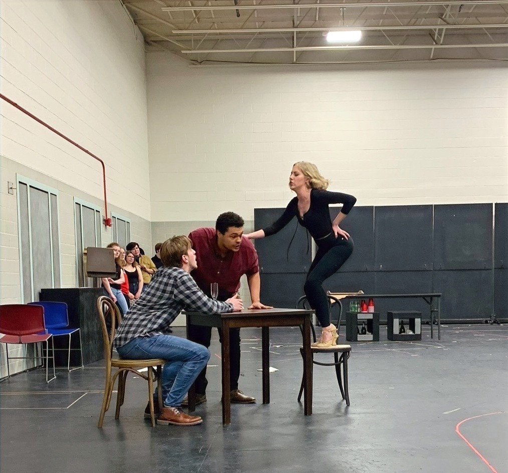 """""""Crazy For You"""" at Ball State - rehearsal photos due to COVID-19 shutdown, 2020"""